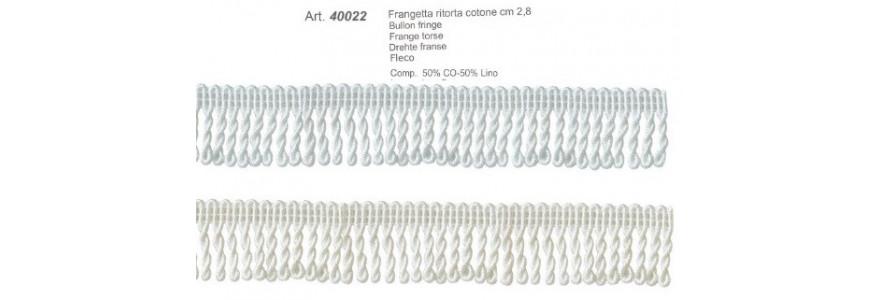 40022 Frangetta cotone ritorto cm 2,8 cm