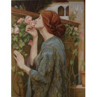 1067 TT Dame mit Rose
