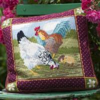 Farmyard Hens by D. Watts